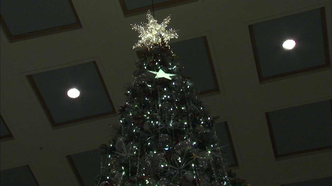 The great tree at Macys on State Street stands 45 feet tall and 10,000 ornaments.