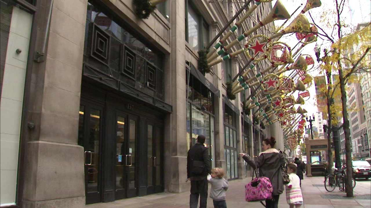 The holiday season is just weeks away and Saturday, Nov. 1, 2013, a long-standing Chicago tradition, the windows at the Macys on State Street, are decorated.