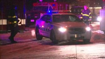In Arlington Heights, a police officer was shot after responding to what was described as a domestic situation.