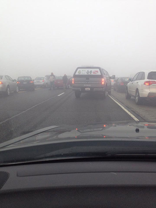 ABC7 Facebook fan Tanya Daniels <span class=meta>(Officials have not said what caused the crash, but low visibility was reported through the Chicago area on Thursday afternoon.)</span>