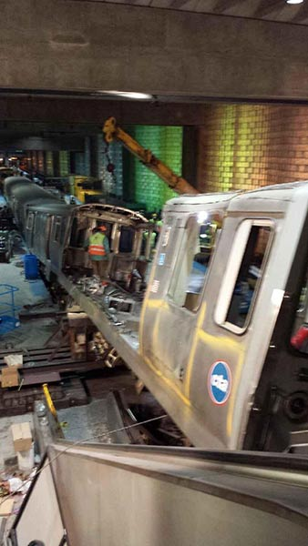 The NTSB completed its on-site investigation on Wednesday, March 26, 2014, and returned to its headquarters to review the information. That&#39;s when CTA crews started clearing up the wreckage.  <span class=meta>(WLS)</span>