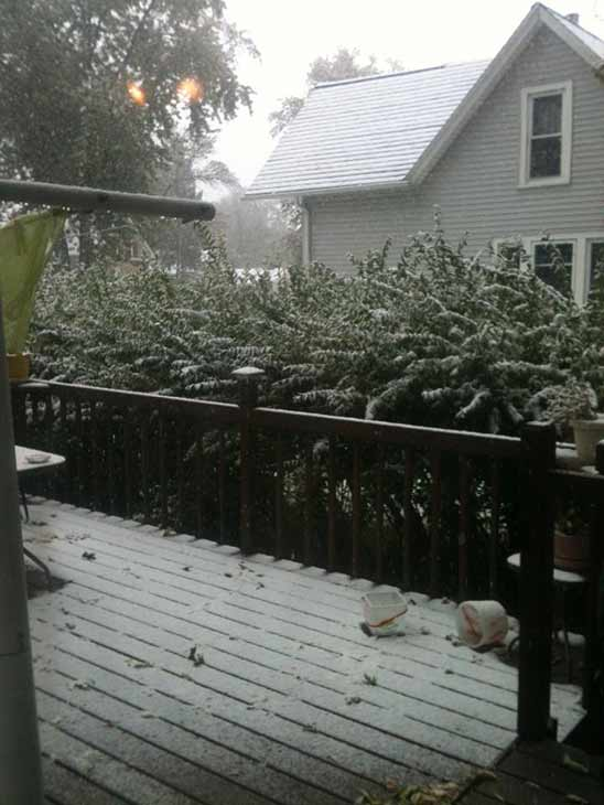 Snow in Mendota, shared with ABC7 by Angie Hismth