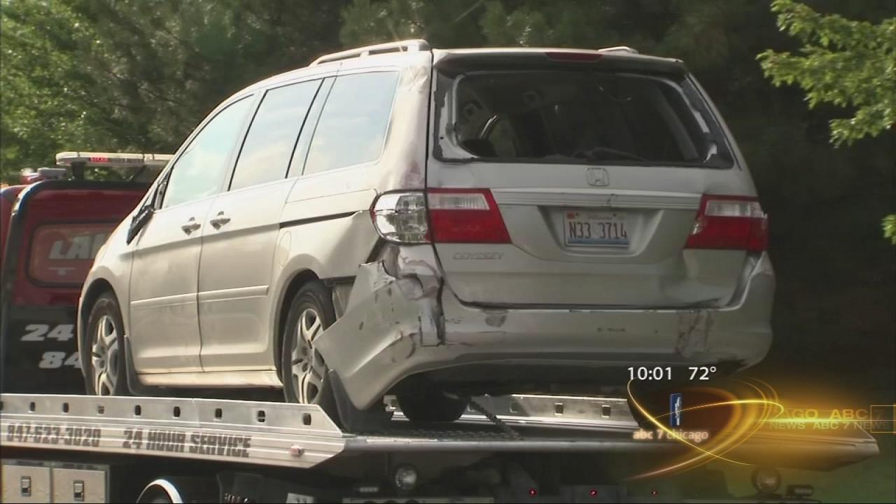 Boy pinned by minivan at school recovering at home