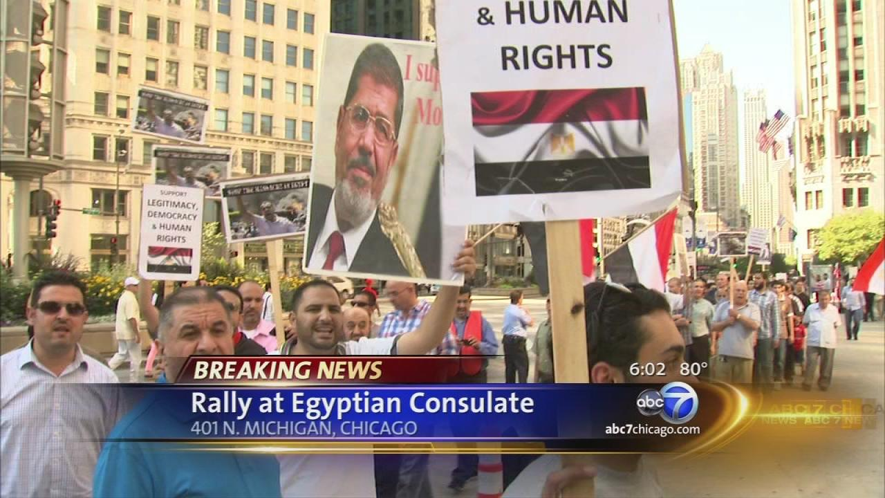 Protest held at Chicagos Egyptian consulate