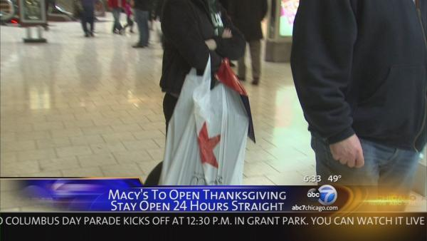Report: Macy's opening on Thanksgiving for 1st time