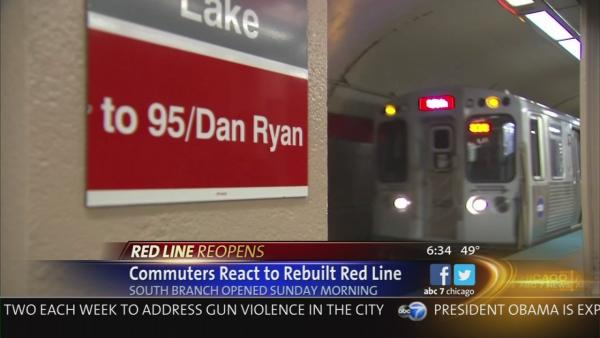 Red Line riders take trip on reconstructed south end