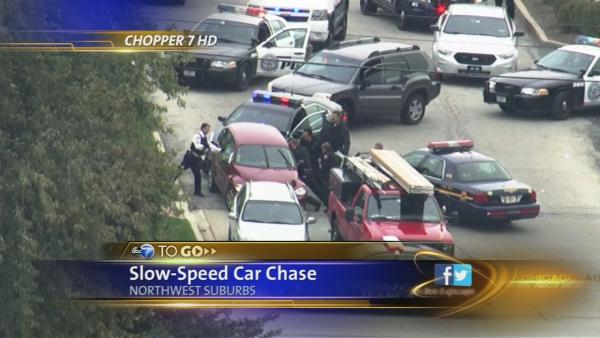 Slow-speed car chase