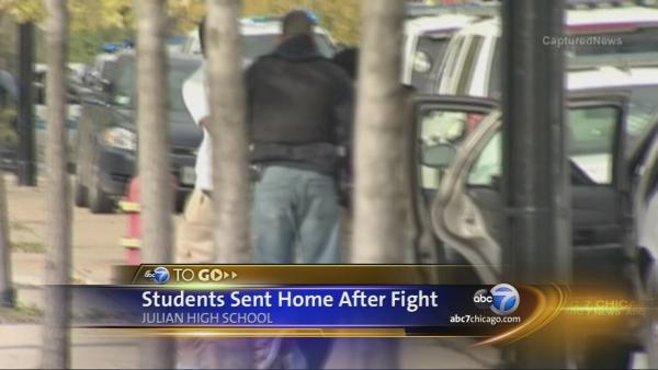 Students sent home after fight