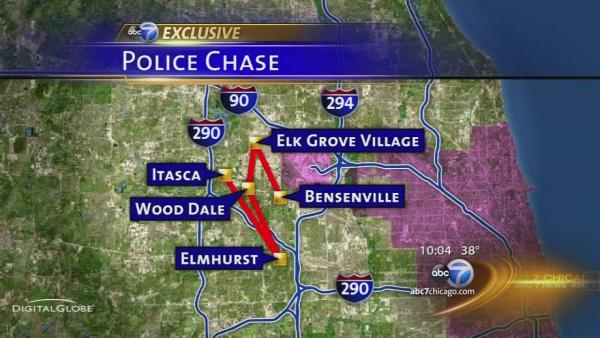 Woman leads police on chase through 5 suburbs