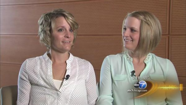 Identical twins battle breast cancer together