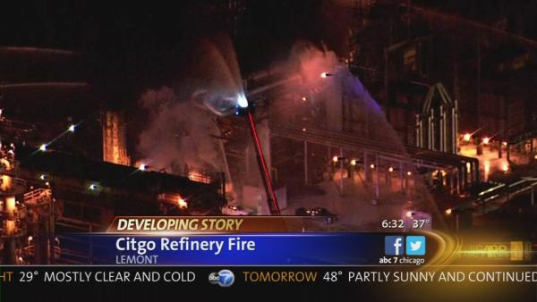 Citgo Oil refinery fire extinguished