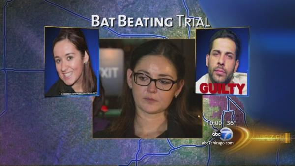 Bat beating victim relieved by guilty verdict
