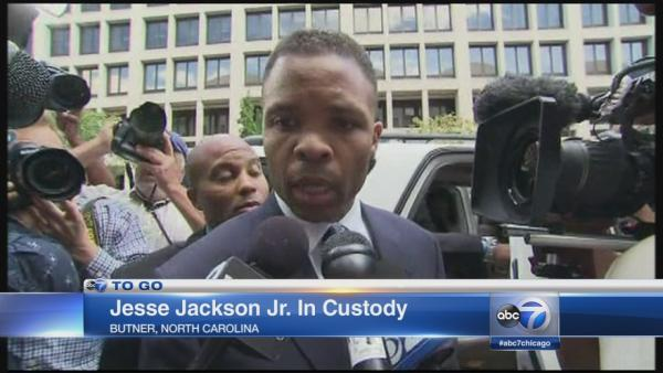 Jesse Jackson Jr in custody