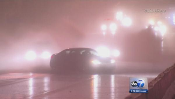 Video shows car hydroplaning on I-55