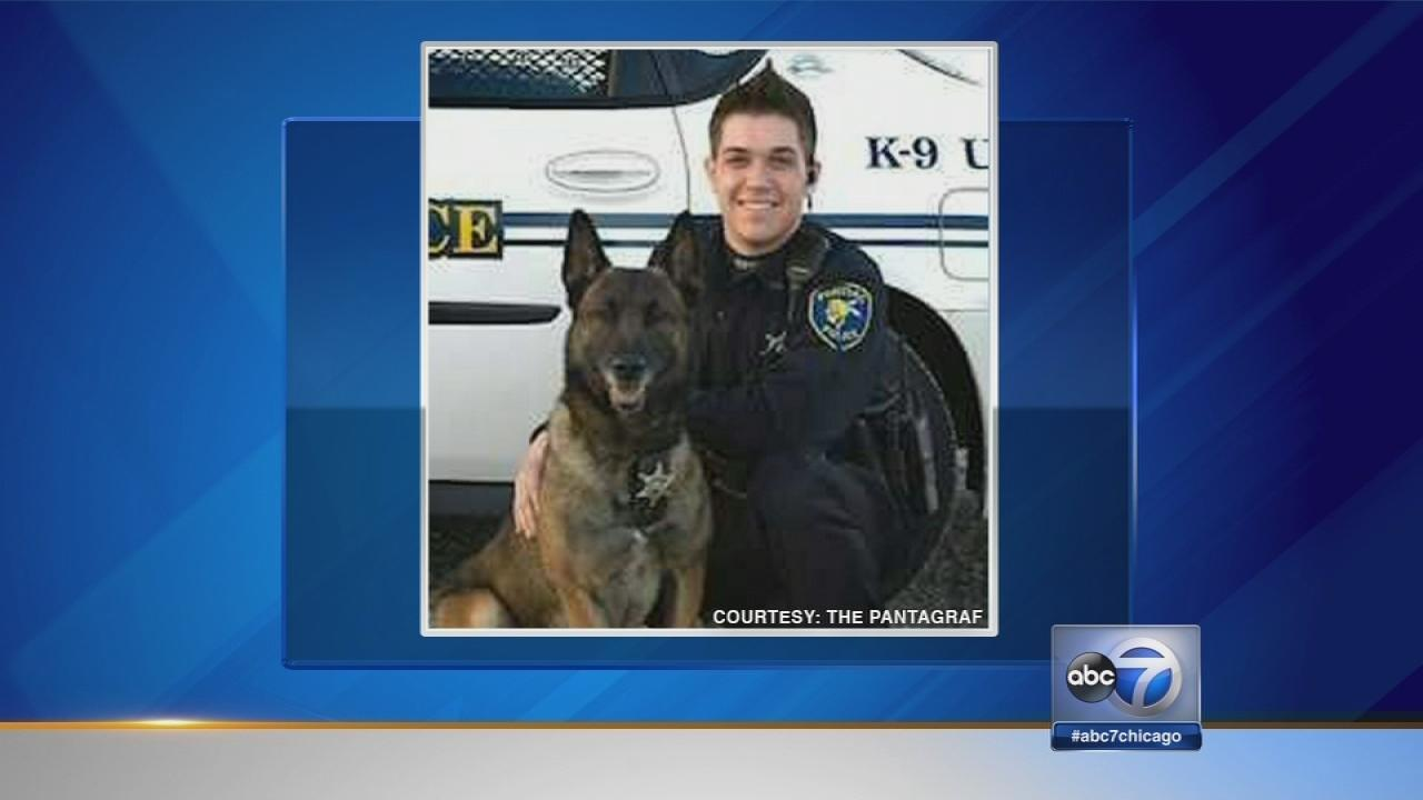 Pontiac officer, police dog killed in crash