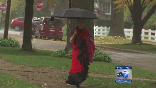Wet night ahead for trick-or-treating