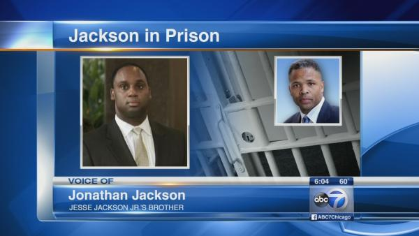 Jonathan Jackson talks as Jesse Jr. begins sentence