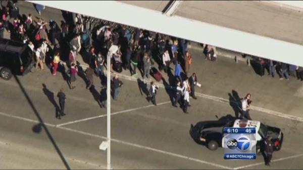 Chicago area residents inside LAX during shooting