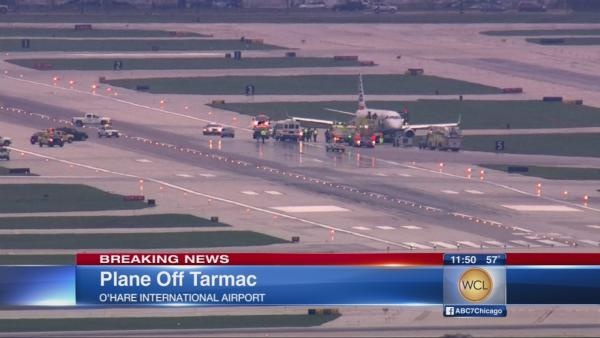 Plane off tarmac at O'Hare