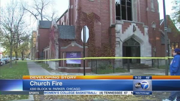 Church fire possibly suspicious, officials say