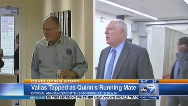 Paul Vallas to be introduced as Quinn's running mate
