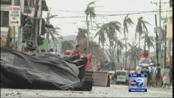 Typhoon relief donation drive under way in Chicago