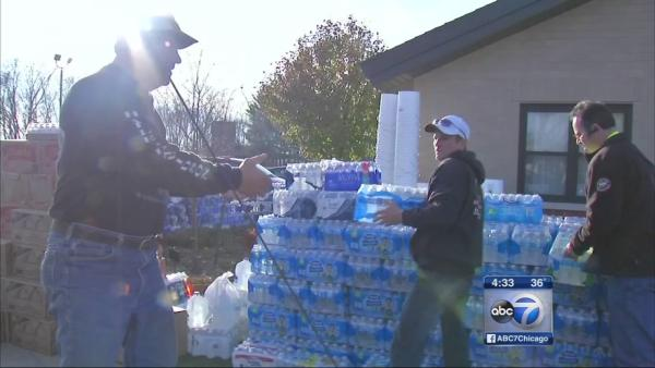 Relief effort in Diamond