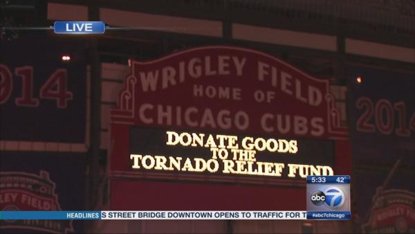 Chicago Cubs helping tornado victims