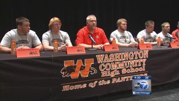 Washington IL rallies around football team