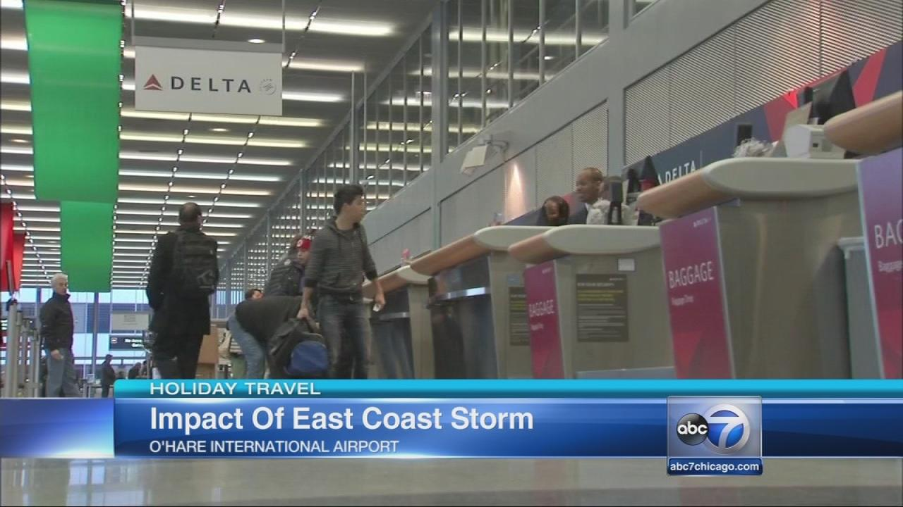 Thanksgiving storm heads east, threatens travel plans