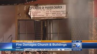 Fire at building, church in Gary, Indiana