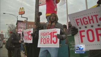 Fast-food workers protest low wages