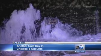Cold settles in over Chicago