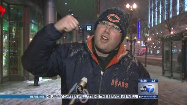 Bears fans warned about cold at game