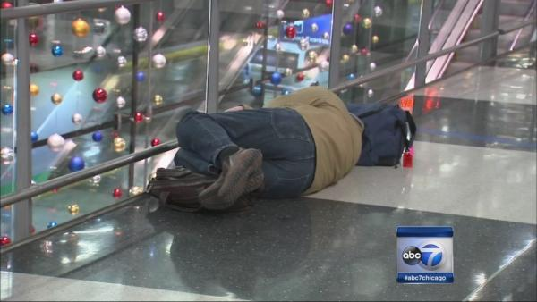 Passengers stranded at O'Hare overnight