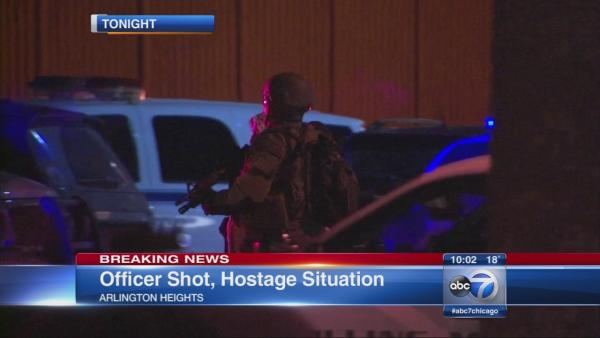 Police officer shot in Arlington Heights