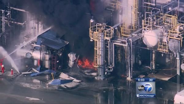 Workers injured in Alsip chemical plant fire