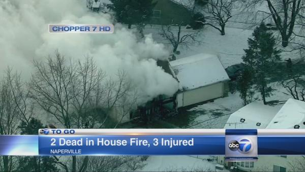 Naperville fire kills 2, injures 3