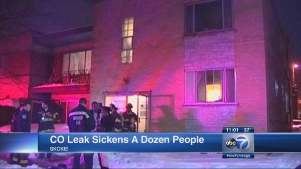 Carbon monoxide injures 12 in Skokie