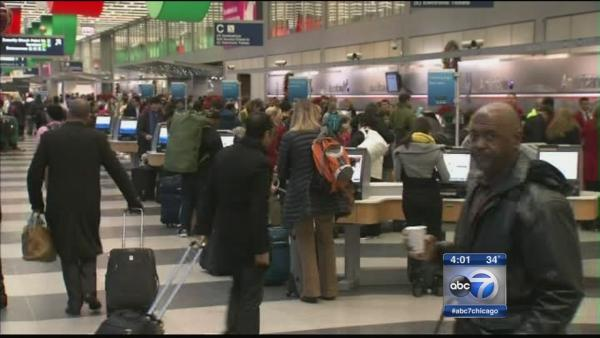 Busiest holiday travel days at O'Hare, Midway