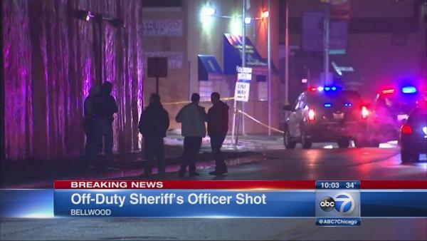 Off-duty sheriff's officer shot in Bellwood