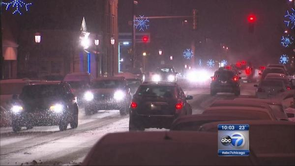 Winter storm warning in effect for much of Chicago