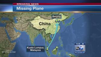 Malaysia Airlines plane vanishes with 239 passengers aboard