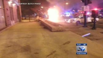 Good Samaritans rescue driver from burning van