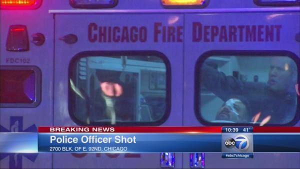 CPD officer shot on South Side