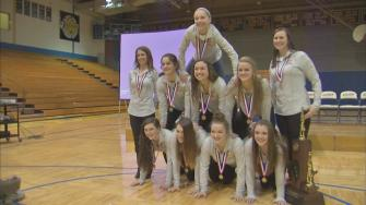 Lyons Township celebrates another gymnastics title