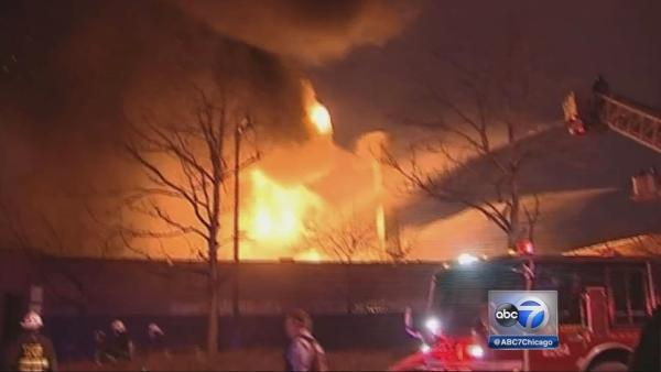Extra-alarm blaze struck in Irving Park