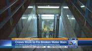 Blue Line stop reopens after water main break