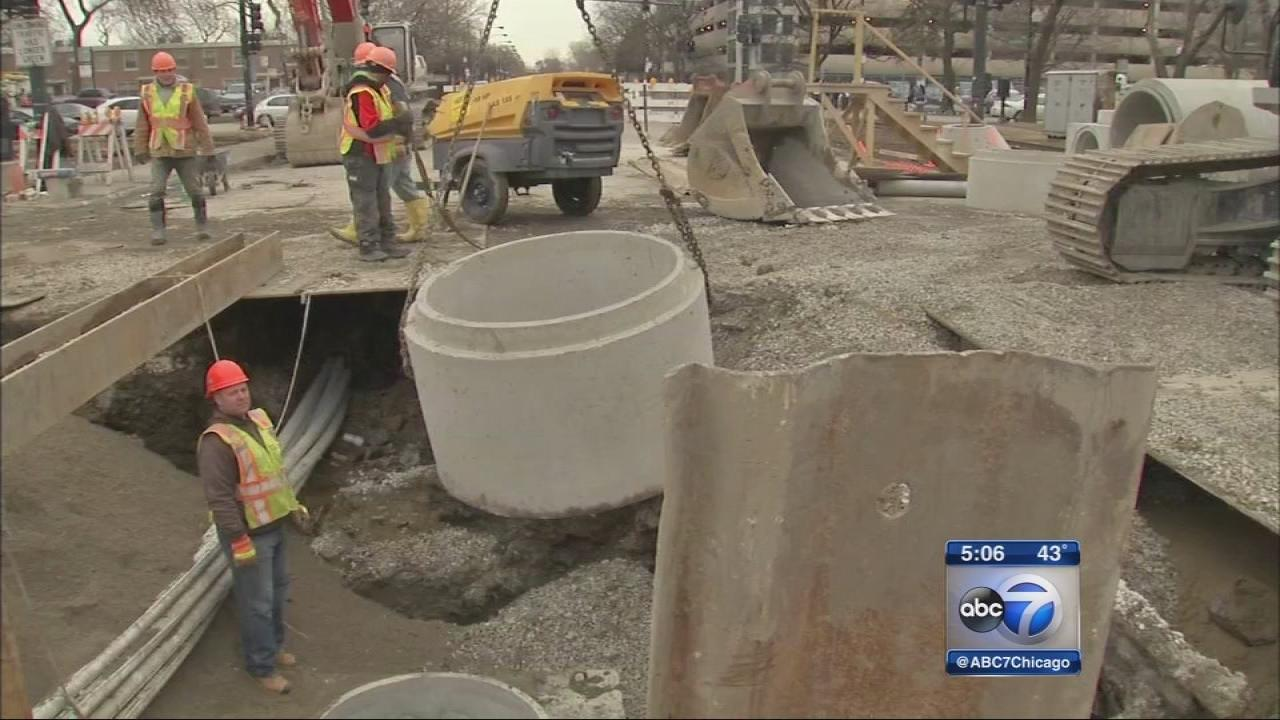 Work underway to replace citys aging water, sewer lines