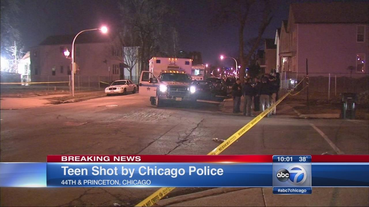 Teen shot by Chicago police on South Side